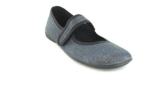 Ballerinas Damen Schuhe XXL Freizeitschuhe Übergrössen Blau