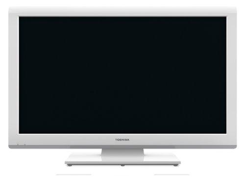 Toshiba 23DL934G 58 cm (23 Zoll) LED-Backlight-Fernseher, Energieeffizienzklasse A (Full-HD, 100Hz AMR, DVB-T/-C, CI+, DVD-Player) weiß