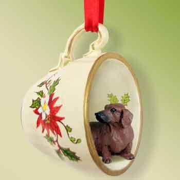 Dachshund (Red) Tea Cup Ornament