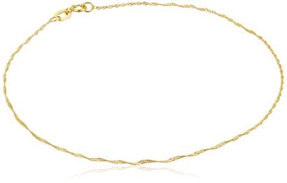14k-Yellow-Gold-Twist-Curb-Chain-Anklet-9