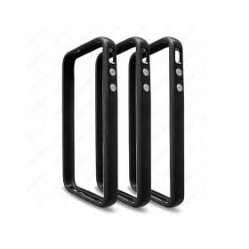 Bumper Case for Apple iPhone4 - Bumper with chrome buttons for volume and power - Black