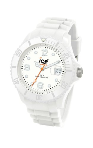 Ice-Watch Unisex-Armbanduhr Medium Big Sili Forever weiss SI.WE.U.S.09