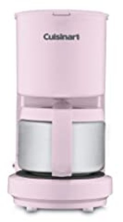Cuisinart DCC-450PK 4-Cup Coffeemaker with Stainless Steel Carafe, Pink