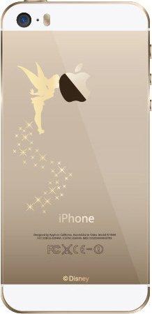 藤本電業 ディズニー iPhone+ クリアデザインケース Gold for iPhone5s/5 J-I5S-DP42 (Tinker Bell)