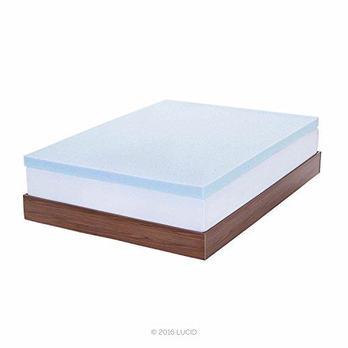 lucid 3-inch gel memory foam mattress topper,video review,queen,(VIDEO Review) LUCID 3-inch Gel Memory Foam Mattress Topper - Queen,