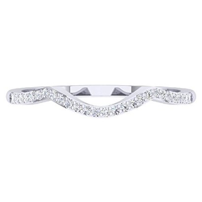 012-Carat-ctw-10K-White-Gold-Round-Diamond-Wedding-Stackable-Band-Contour-Guard-Ring-Size-8