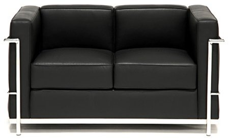 Gt Gt Cheap Le Corbusier Lc2 Petite Loveseat In Genuine Black