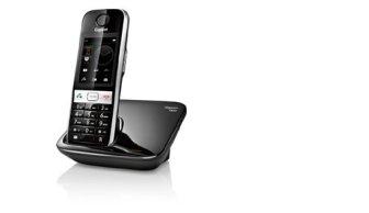 Gigaset S820 - Teléfono fijo digital (inalámbrico, pantalla TFT, USB), negro