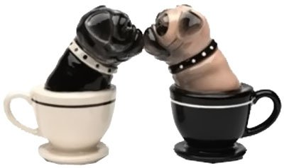 Kissing Pug Salt and Pepper Shakers