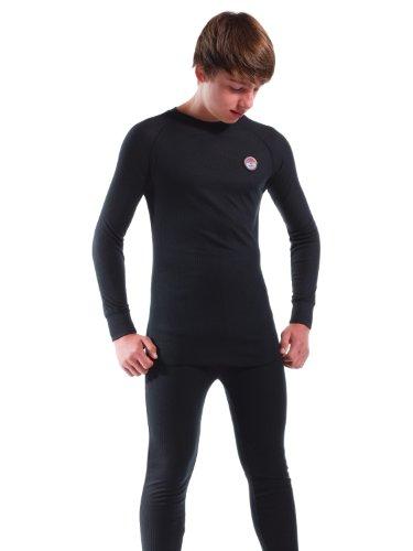 Nebulus Skiunterwäsche Teight, Shirt und Hose, Kinder, schwarz