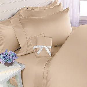 Marrikas 1000TC Cotton Rich Queen Solid White Sheet Set