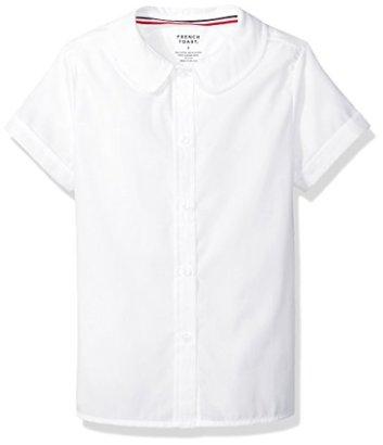 French-Toast-Girls-Toddler-Girls-Short-Sleeve-Peter-Pan-Collar-Blouse-White-3T