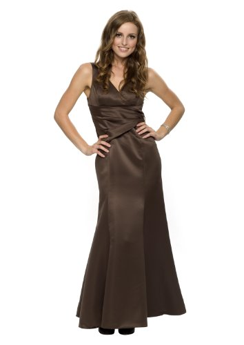 Elegantes Luxus Party Empire Abendkleid, Farbe braun, Gr.36