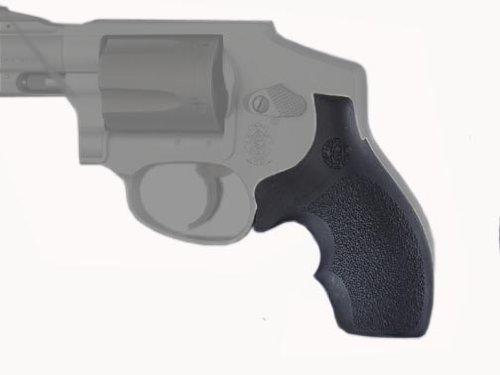 Hogue Rubber Grip S&W J Frame Round Butt Rubber Bantam Style Grip ...