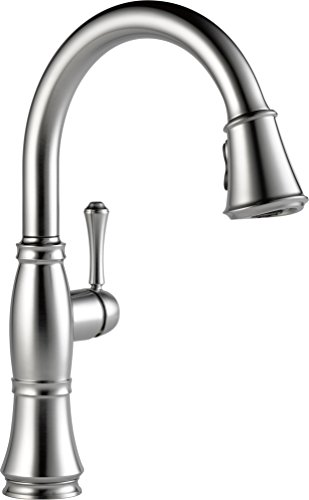 delta faucet 9197-ar-dst cassidy,single handle pull-,kitchen faucet,video review,arctic stainless,(VIDEO Review) Delta Faucet 9197-AR-DST Cassidy, Single Handle Pull-Down Kitchen Faucet with Magnetic Docking, Arctic Stainless,