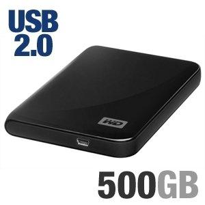 Western Digital My Passport Essential 500 GB USB 2.0 Portable External Hard Drive (Midnight Black)