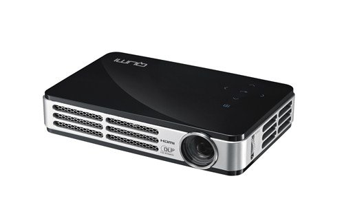 VIVITEK QUMI Q5-BK ブラック 超軽量490g 高輝度500ルーメン LEDモバイルプロジェクター WXGA(1280x800) HD720P DLP Wi-Fiワイヤレス接続対応 Q5-BK
