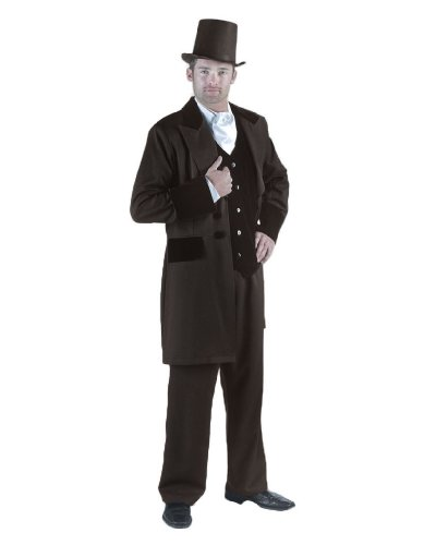 gone with the wind men costumes - Men's Rhett Butler Suit Theater Costume, Brown, Large