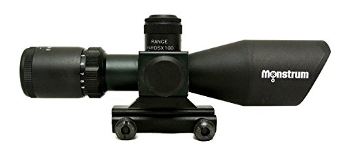 Monstrum Tactical 3-9x40 Rifle Scope with Illuminated Range Finder Reticle