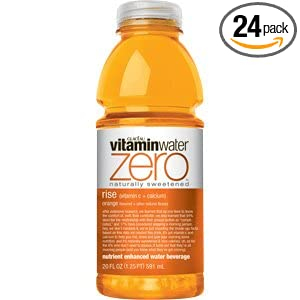Glaceau Vitamin Water Nutrient Enhanced Water Beverage ZERO, Rise Orange, 20 oz (Pack of 24)
