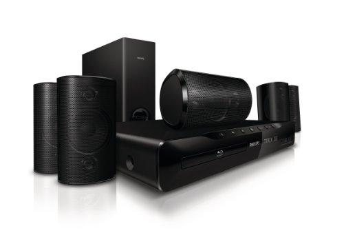 Philips HTS3551/12 5.1 Heimkinosystem (Blu-ray, 300 Watt, HDMI, Upscaler 1080p, DivX-HD, DVD, USB 2.0)