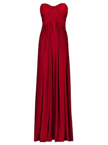 FourFlavor Elegantes Abendkleid lang, rot (M)