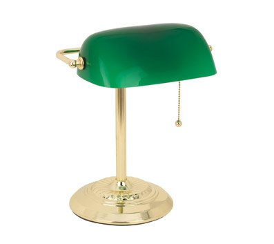 Catalina Green Banker's Lamp 17466-000