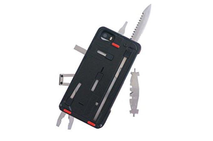 <国内正規品>TaskOneG3 (タスクワンG3)iPhone5/5S用の22種類の工具を内蔵したケース。デジタル(スマホ)とアナログ(工具・道具)の融合した革新的なiphone5ケース。 (TOG3 BKRD(black/red))