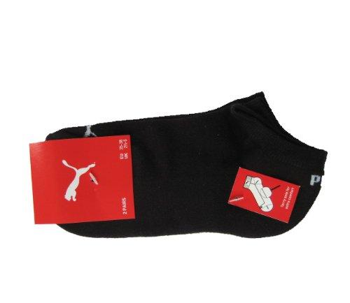 Puma Sneaker Unisex Socken 2Paar mit Frotteesohle Gr. 43-46 schwarz