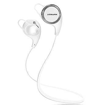 COULAX  QY8 [QY7の進化版] Bluetoothイヤホン   Bluetooth 4.1ワイヤレスイヤホン CVC6.0ノイズキャンセル aptXテクノロジー採用 マイク内蔵 高音質ハンズフリー通話が可能 ランニングでも耳から落ちにくい 防汗 スポーツイヤホン(ホワイト)