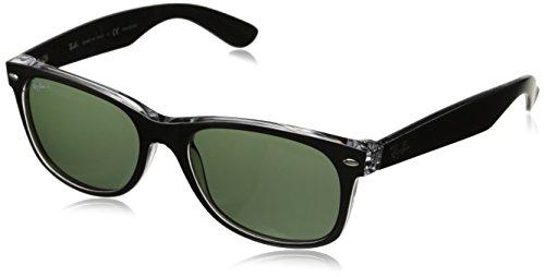 Ray Ban RB2132 Wayfarer Sunglasses-605258 Black(Green PolarLens)-55mm