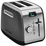 Kitchenaid KMT222QG 2-Slice Toaster with Manual High-Lift Lever and Digital Display