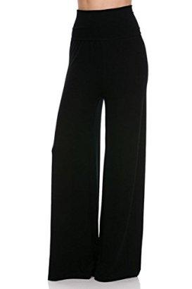 2LUV-Plus-Womens-High-Waisted-Plus-Palazzo-Pants-Black-3XL-B1098M
