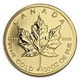 2015年製 金地金 カナダ メイプルリーフ金貨  1/20オンス
