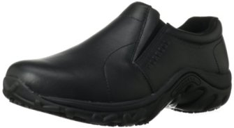 Merrell Men's Jungle Moc Pro Grip Slip-Resistant Work Shoe,Black,10 M US