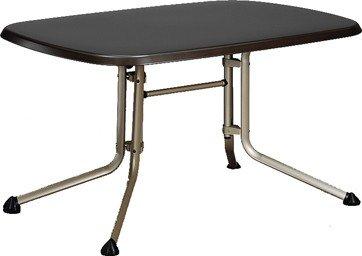 Kettler Gartentisch oval 140x90cm, weiß Aluminiumgestell weiß, Kettalux-Plus-Platte