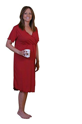 Moisture Wicking Nightgown Debra in Romantic Red