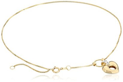 10k-Yellow-Gold-Open-Puff-Heart-with-Rhodium-Anklet