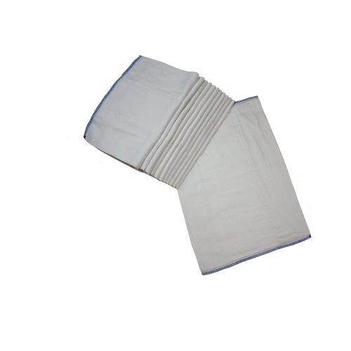 OsoCozy - Indian Cotton - Prefold Cloth Diapers Infant 4x6x4 (dozen)