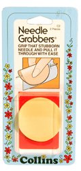 Hand sewing needle grabber