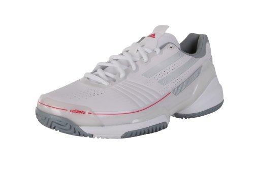 Adidas Adizero Feather Damen Tennis Schuhe Tennisschuhe Frauen Sportschuhe White Metallic silver Fresh Pink Weiß Silber Pink Größe 37 1/3 4.5 4 1/2
