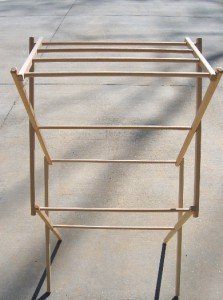 Wood 36 Inch Clothes Drying Rack Foldable Portable Laundry Dryer