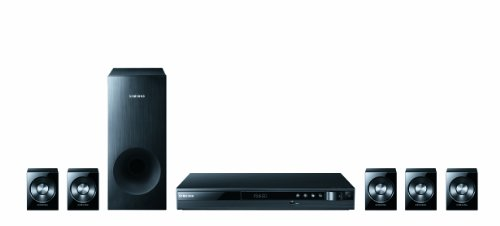Samsung HT-D350 5.1 DVD-Heimkinosystem (330 Watt, 1080p Upscaling, USB, HDMI) perlschwarz