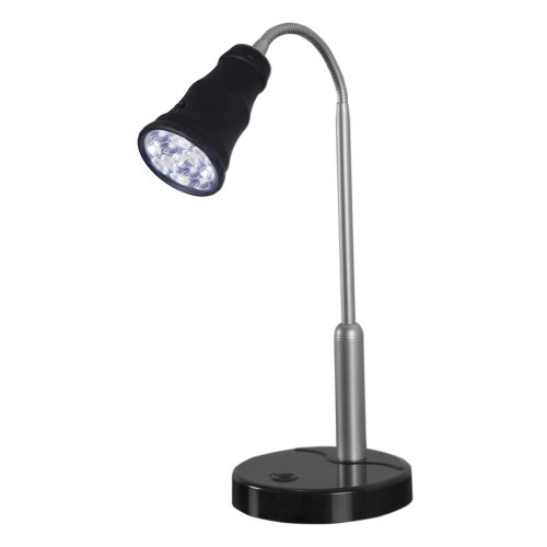 Super Bright LED Table Lamp/Flashlight (Black)