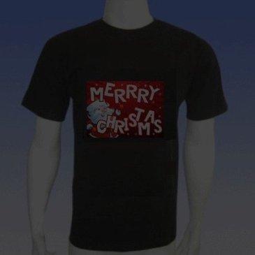 Funny Light up LED Christmas T-shirt Merry Christmas Size XL