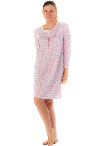 Casual Nights Women's Cotton Blend Long Sleeve Nightgown, Winter nightgown, short pj's, hot flashes