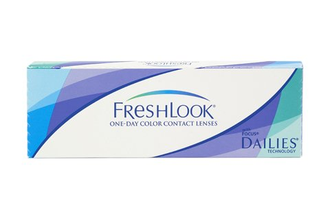 Fresh Look Color - One Day - 10er Box (Dioptrien: -1.00 / Radius: 8.60 / Durchmesser: 13.80 / Farbe: Blau)