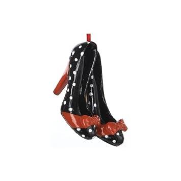 Black & White Polka Dot Shoe Ornament