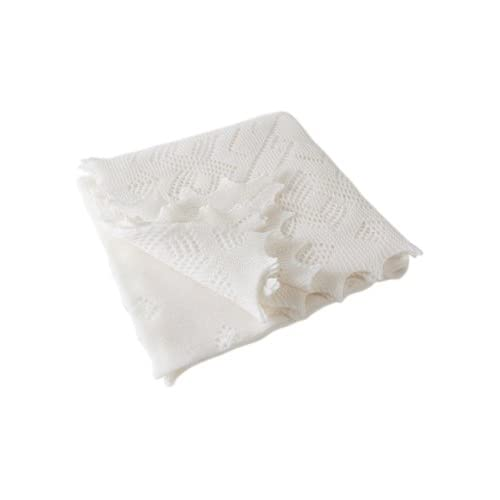 Super Fine Merino Wool Christening Shawl white