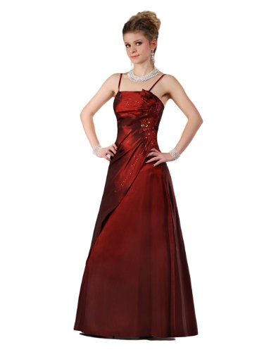 Envie/Paris - 1009 SOPHIA Abendkleid Ballkleid 1-teilig in Weinrot Gr.38 / 140cm